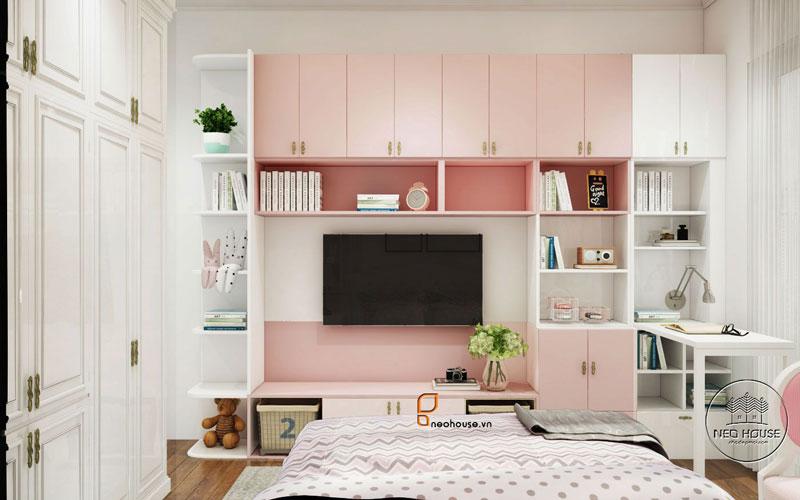 Phòng ngủ màu hồng. Ảnh 27