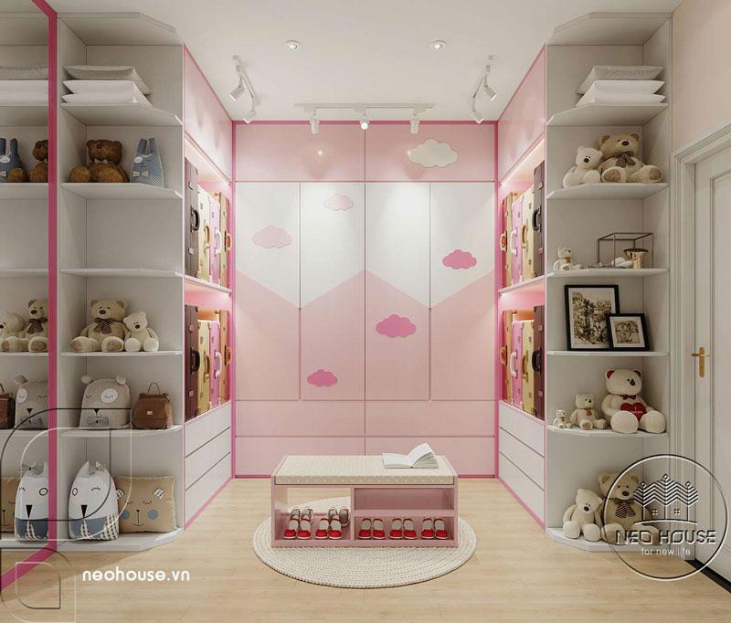 Phòng ngủ màu hồng. Ảnh 5