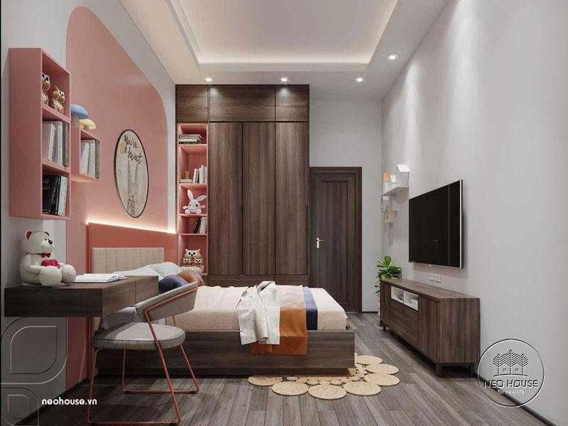 Phòng ngủ màu hồng. Ảnh 7