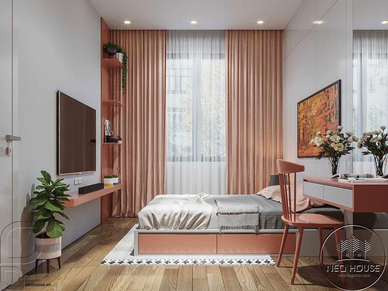 Phòng ngủ màu hồng. Ảnh 9