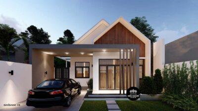 Mẫu Nhà Cấp 4 Nông Thôn 3 Phòng Ngủ Độc Đáo 8x20m Tại Bình Phước – NC03