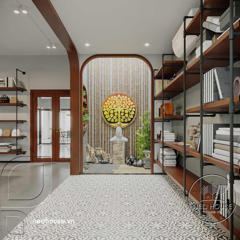 Nội thất nhà biệt thự đẹp 180m2 phong cách Indochine. Ảnh 8