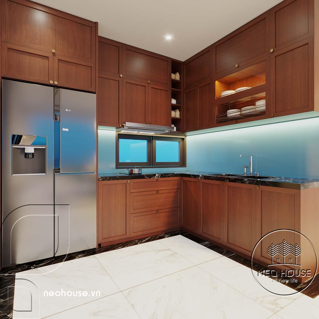 Nội thất nhà biệt thự đẹp 180m2 phong cách Indochine. Ảnh 3