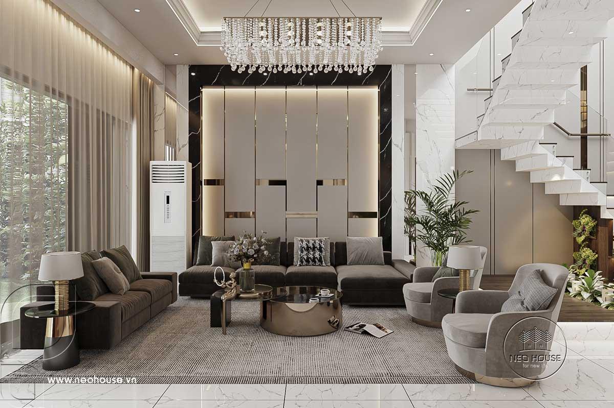 Thiết kế nội thất nhà biệt thự hiện đại 3 tầng. Ảnh 1