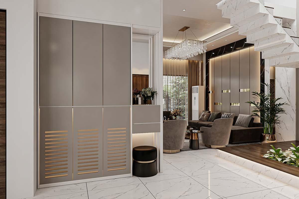 Thiết kế nội thất nhà biệt thự hiện đại 3 tầng. Ảnh 3