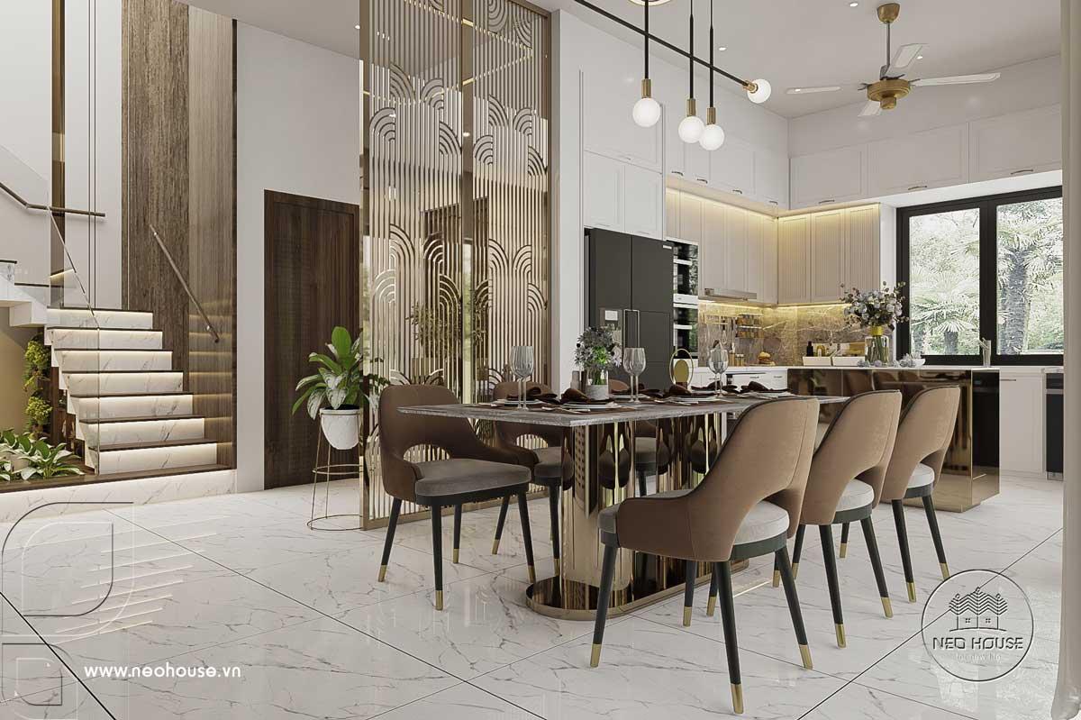 Thiết kế nội thất nhà biệt thự hiện đại 3 tầng. Ảnh 5