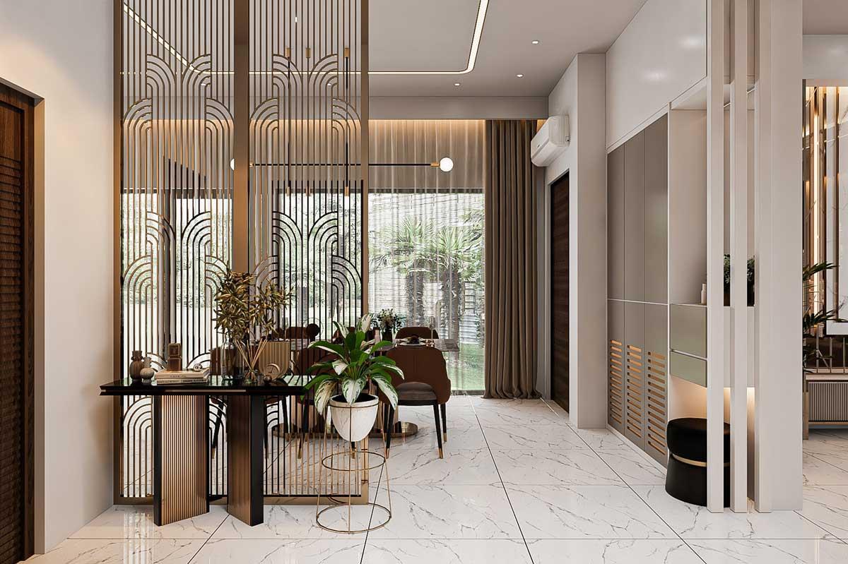 Thiết kế nội thất nhà biệt thự hiện đại 3 tầng. Ảnh 7