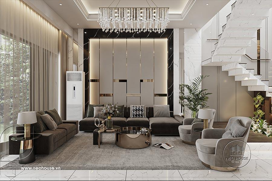 Thiết kế nội thất nhà biệt thự hiện đại. Ảnh bìa