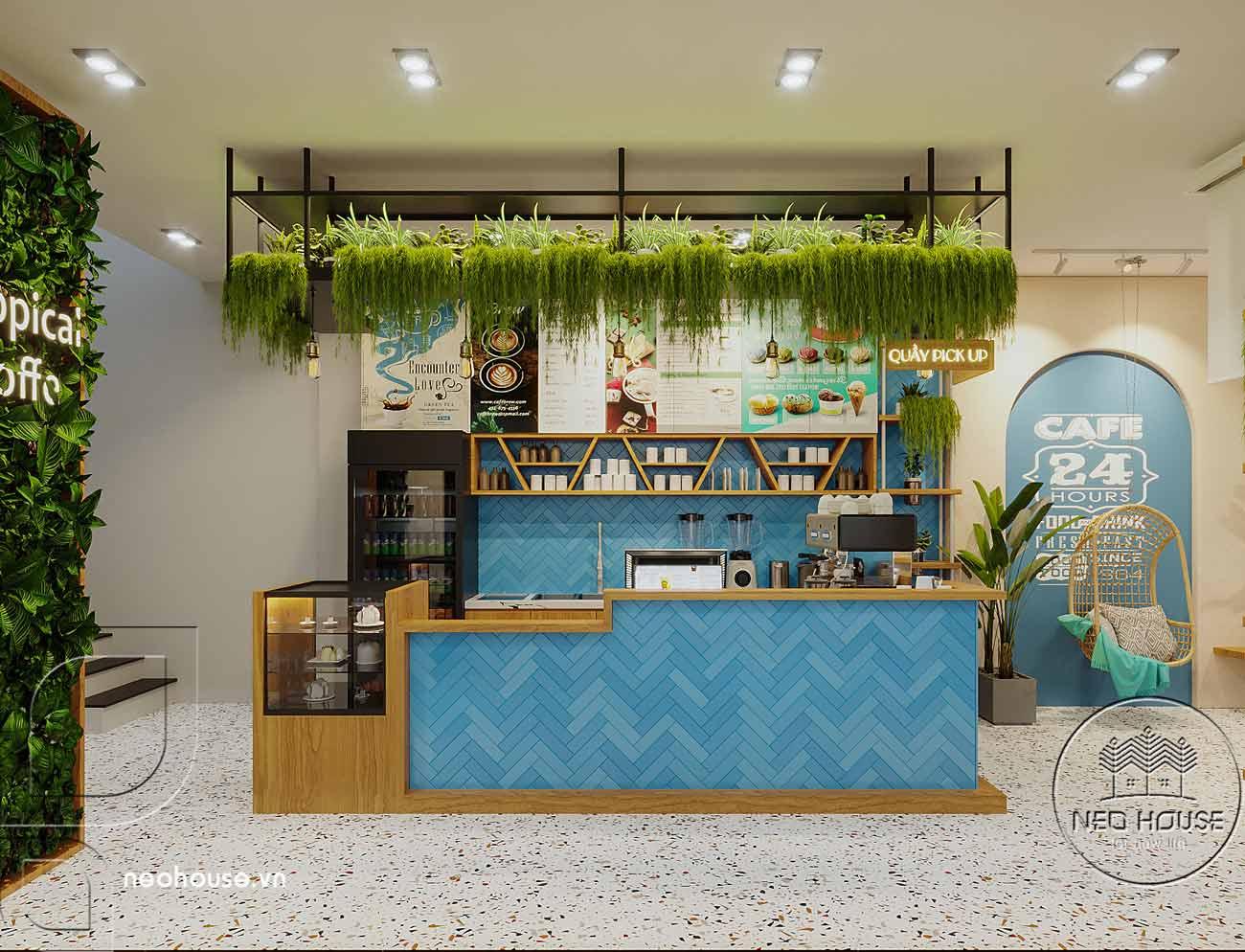 Quán cafe phong cách tropical. Ảnh 2