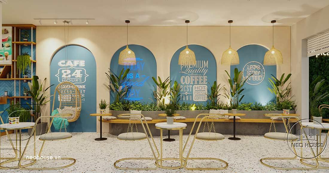 Quán cafe phong cách tropical. Ảnh bìa